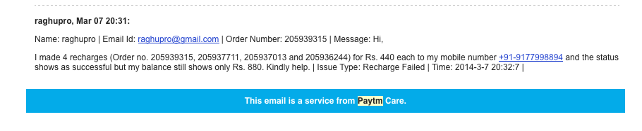 One Reason Compelling Enough To Never Shop on Paytm - Raghu